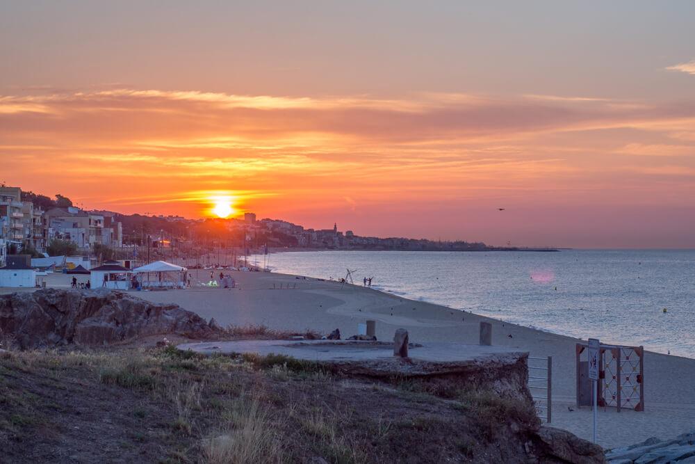 Romantic sites in Barcelona, Montgat Beach